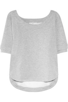 studio cotton jersey sweatshirt ++ adidas by stella mccartney