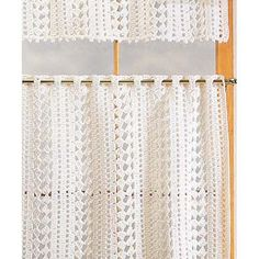 Designer Crochet Curtains Photos of Cafe Curtains Crochet Yarn Kit- get easier than to buy a kit crochet kitchen curtains Drop Cloth Curtains, Cafe Curtains, Diy Curtains, Kitchen Curtains, French Curtains, Vintage Curtains, Yellow Curtains, Gold Curtains, Nursery Curtains
