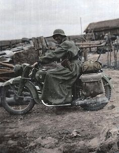 German Zundapp motorcyclist in the eastern front | GLORY. The largest archive of german WWII images | Flickr, pin by Paolo Marzioli