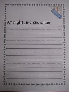 Snowmen at Night writing- focus on organization.