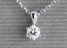 Venilia in white gold with a 0,30 ct. brilliant #Yorxs #Diamantanhänger
