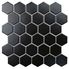 Value Series 2'' x 2'' Porcelain Mosaic Tile in Matte Black