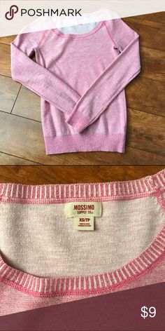 *BUNDLE & SAVE* Pink Long-sleeve *BUNDLE & SAVE* Pink/white long-sleeve shirt! Has been gently used. Great for a quick/simple look with some jeans and boots! Tops Tees - Long Sleeve