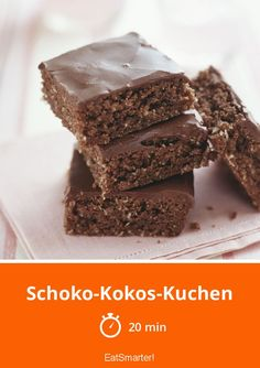 Schoko-Kokos-Kuchen - smarter - Zeit: 20 Min.   eatsmarter.de