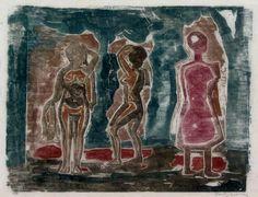 Oswaldo Goeldi, Três Mulheres (Three Women), xilogravura, 1930, Coleção Maurício Fleury Bucky