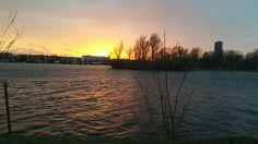 An der Alten Donau im Frühling! Celestial, Sunset, Outdoor, Summer, Outdoors, Sunsets, Outdoor Games, The Great Outdoors, The Sunset