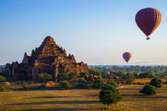 Ballon Reise in Myanmar