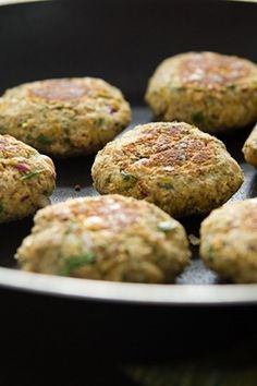 Falafel with a Twist! This falafel is bursting with healthy omega fats and is cooked on the skillet instead of deep fried. You won't miss it, promise!