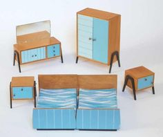 Doll's bedroom from Roco, circa 1960