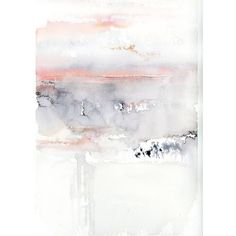 Pink Sky Painting by Alex Tolstoy (14,535 THB) ❤ liked on Polyvore featuring home, home decor, wall art, backgrounds, grey, pink home accessories, grey wall art, pink flamingo painting, pink flamingo home decor and water color painting