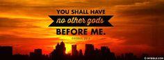 Exodus 20:3 NKJV - No Other Gods. - Facebook Cover Photo