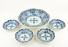 Vintage  Set of 5 Delft Blue bowls by CrystalBlueVintage on Etsy