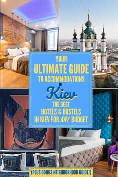 Traveling to Ukraine and don't know where to stay in Kiev? This guide to accommodations in Kyiv has best hotels and hostels (+ neighborhood guide! Europe Travel Guide, Travel Guides, Travel Advice, Hotels And Resorts, Best Hotels, Travel To Ukraine, Beautiful Hotels, Amazing Hotels, Best Cities