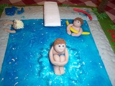 Swimming Pool Cake Close Up U2014 3D Figures