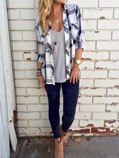 Plaid Chest Pocket Long Sleeve Shirt