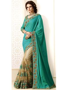Dazzle and excite with this truly gorgeous outfit Item Code: SUM1442 http://www.bharatplaza.com/new-arrivals/sarees.html