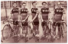 The BSA professional team that won the 1952 Tour of Britain.