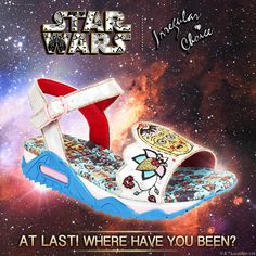 At last! Where have you been? We have given our C-3PO-inspired shoes an Irregular make over. 'Floral Droid'  After amazing success taking our 'first step into a larger world' with our first Star Wars™ collection, we now make the jump to lightspeed with an all new fleet of shoes. Limited Edition Irregular Choice | Star Wars™ landing ONLINE 12pm Friday 27th May and in Irregular Choice STORES 12pm Wednesday the 1st of June.