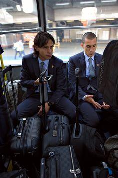 Gerardo Flores y Jorge Torres Nilo en el Aeropuerto de Río de Janeiro