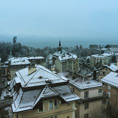 A foggy January day in Lausanne