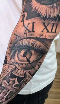 Tattoo Sleves, Koi Tattoo Sleeve, Half Sleeve Tattoos Drawings, Lion Tattoo Sleeves, Half Sleeve Tattoos For Guys, Best Sleeve Tattoos, Tattoo Sleeve Designs, Tattoo Designs Men, Lion Forearm Tattoos