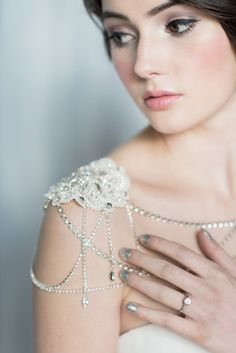 Crystal Shoulder Piece Shoulder Jewelry by BlairNadeauMillinery