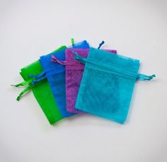 60 Organza bags 5x8 in 15 mix colors or any color of your choice