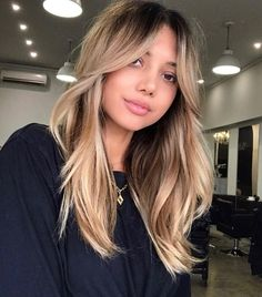 Blonde Hair With Highlights, Brown Blonde Hair, Dark Blonde, Blonde Hair Bangs, Blonde Hair Cuts Medium, Blonde Shades, Medium Long Hair, Blonde Color, Brunette Hair