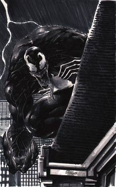 Venom by Eddy Barrows Comic Art Comic Book Villains, Marvel Villains, Comic Book Characters, Marvel Characters, Marvel Heroes, Comic Character, Comic Books Art, Comic Art, Book Art
