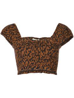 0496fa3e5034 NICHOLAS NICHOLAS LEOPARD PRINT CROP TOP - BROWN. #nicholas #cloth