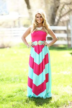 83ad704cd71 NWT Chevron maxi NWT - never worn max bought from an online boutique. Size  large but runs big