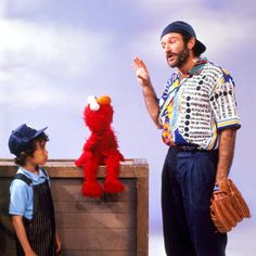 Robin Williams with Elmo.