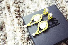 Hennes and Mauritz neon yellow earrings