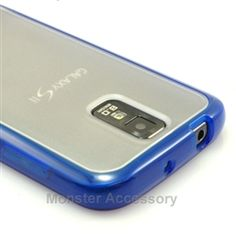 Click Image to Browse: $6.95 Blue Softgrip Hard Case Gel Cover For Samsung Galaxy S2 (Hercules T989) T-Mobile