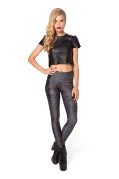 Chainmail Leggings (48HR) by Black Milk Clothing $75AUD