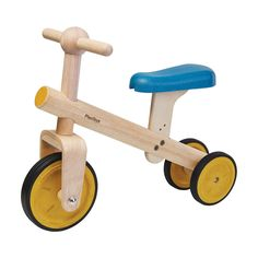 This is for the beginner bike riders before they learn how to pedal. Early bike riders can learn to balance with this Balance Bike Tricycle which features a three-wheeled vehicle. Bike Shelf, Plan Toys, Green Toys, Balance Bike, Cnc Projects, Barbie Accessories, Designer Toys, Wood Toys, Classic Toys