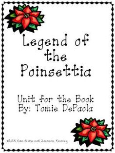 picture relating to The Legend of the Poinsettia Printable Story known as Legend of the Poinsettia~a A person 7 days Studying Product for the