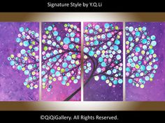 """Original oil landscape Painting Canvas art  """"Dancing in the Starlight"""" by qiqigallery on Etsy, $385.00"""