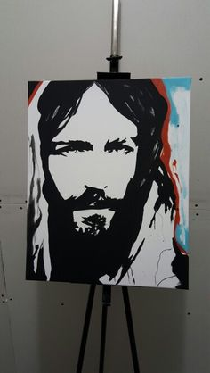 Inspirational Jesus painting in acrylic. Inspired by a painting I seen on here, decided to paint one of my own.