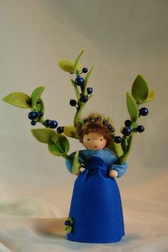 Blueberry Flower Child Waldorf Inspired von KatjasFlowerfairys