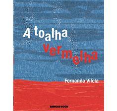 A Toalha Vermelha  Ilustrado com uma técnica na qual se utiliza fita crepe, o novo livro de Fernando Vilela é uma fantástica narrativa visual, as imagens presentes em cada página preenchem a curiosidade e o imaginário dos leitores sobre o planeta Terra, mais especificamente sobre o fundo do mar. O livro começa da mesma forma como termina: com uma imagem distante da Terra. A cada página virada, as ilustrações fazem o papel de uma lupa, aproximando o leitor da história de uma toalha vermelha