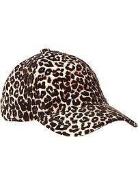 Women's Leopard-Print Baseball Caps