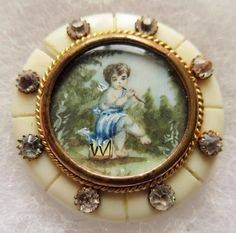 Sharing a Cherub button find on PINTEREST. Thanks to Button Button Who's Got The Button on FACEBOOK. #buttonlovers