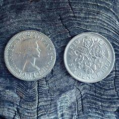 English Sixpence  Lucky Sixpence  Sixpence Bridal Gift  #faeriemagic #amulet #sixpence #luckysixpence #bridalsixpence #speakingofwitchwands