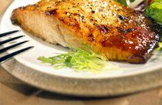 BBQ salmon in wasabi ginger sauce