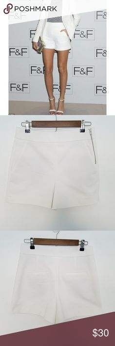 2d9f5989 Zara Off White Tailor Shorts Size Medium NWOT Zara Trafaluc Off White  Stretch Tailor Shorts Womens