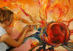 Akiane Kramarik painting the development of human life