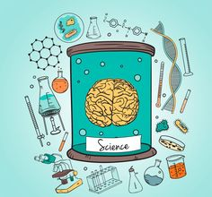 Vector Fisica More than one million free vectors, PSD, photos and free icons. All rec . Science Icons, Mad Science, Science Art, Binder Covers, Notebook Covers, Brain Vector, Chemistry Art, Science Illustration, Tumblr Stickers