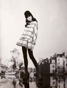 1960s Mod Fashion Style! I would love to wear this for the fall minus the hat of coarse but darn if I could I would so wear that hat!
