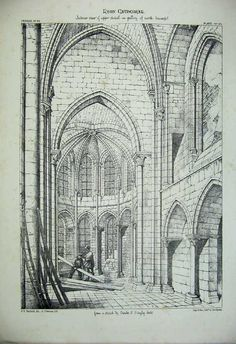 Print France Architecture Laon Cathedral C1875 Chapel Gallery